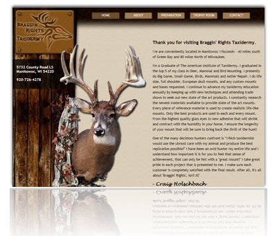 Braggin' Rights Taxidermy Website