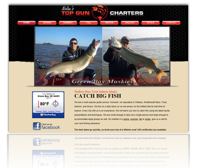 Nolan's Top Gun Charters Website