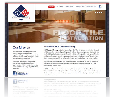 S&W Custom Flooring Website
