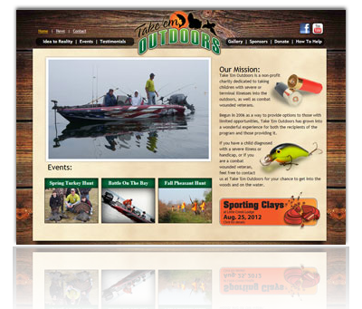 Take'Em Outdoors Website