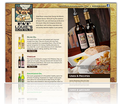 Fat Louie's Olive Oil Website
