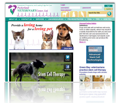 Packerland Veterinary Center Website