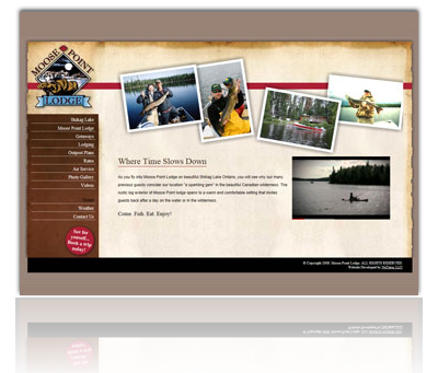 Moose Point Lodge Website