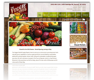 The Veggie Shed & Supply Depot Website